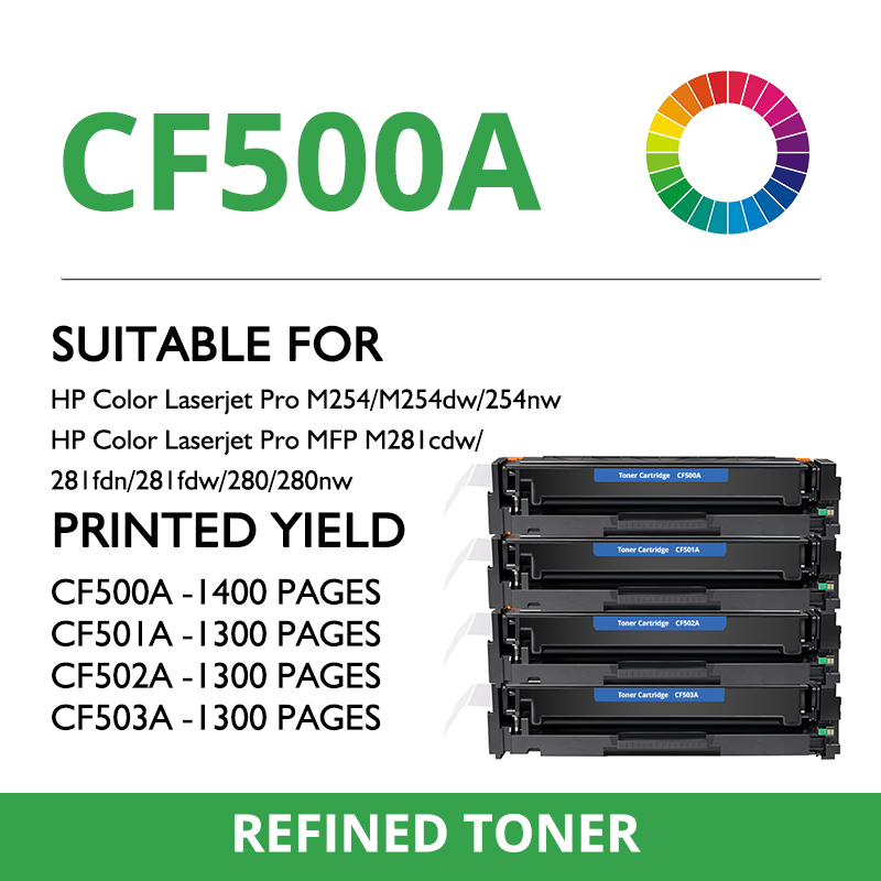 Toshing color compatible toner cartridge CF500A for hp Color M254