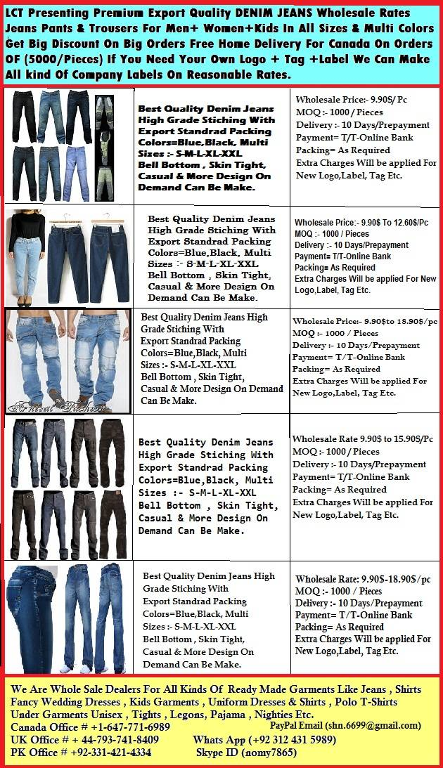 DENIM JEANS EXPORT QUALITY WHOLESALE