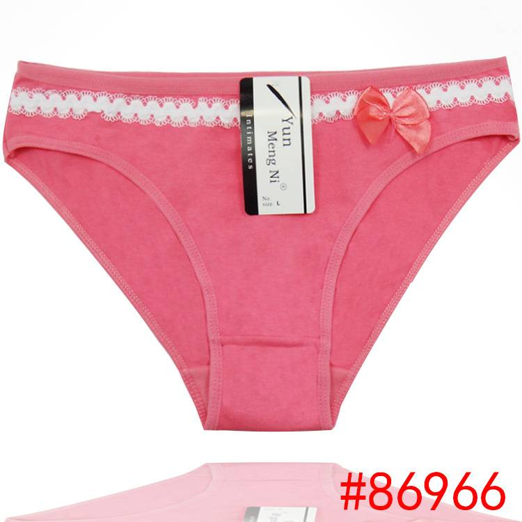 2015 New cute cotton panties soft knickers women underwear lady underpants stretched girl brief lady