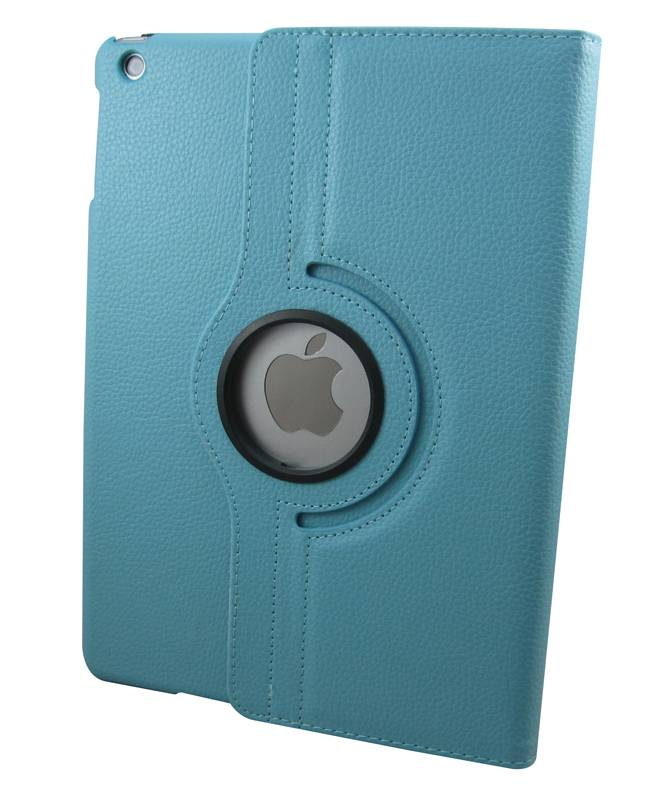 360Degree Rotatable PU Leather Case for iPad Air Light Blue USD2.80/PCS