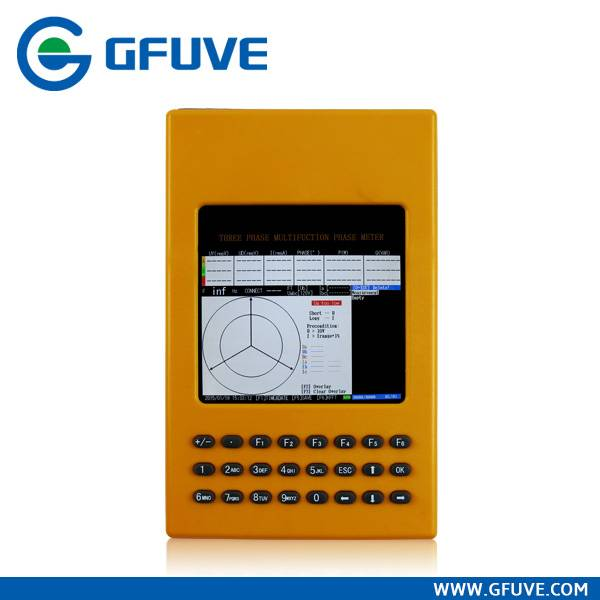GF311 THREE PHASE MULTIFUNCTION PHASE ANGLE CURRENT CLAMP METER