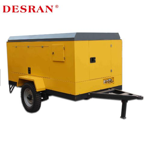 Runs Quietly And Smoothly Diesel Portable Screw Compressor In China