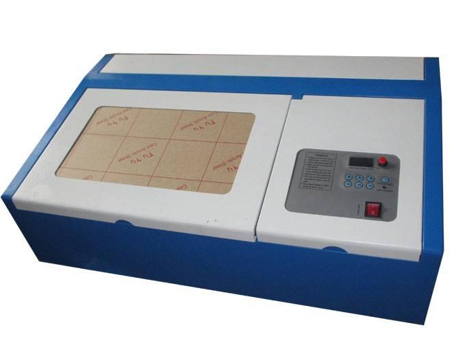 desktop laser engraver/rubber stamp making machine/40w mini co2 laser cutter