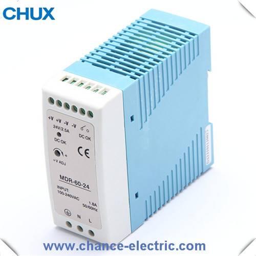 DIN RAIL type  power supply MDR 60W