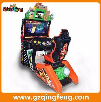 Qingfeng discount coin operated car driving simulator  racing car machine