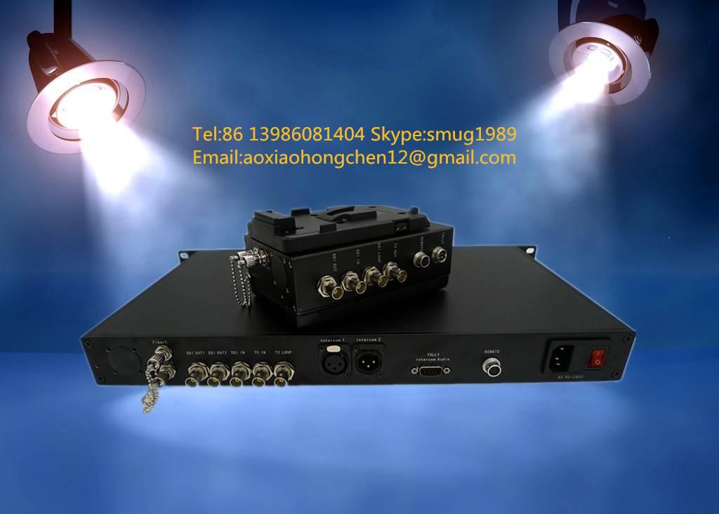 SDI studio fiber System for Sony/JVC/Panasonic camera remote control with  tally&intercom& party lin