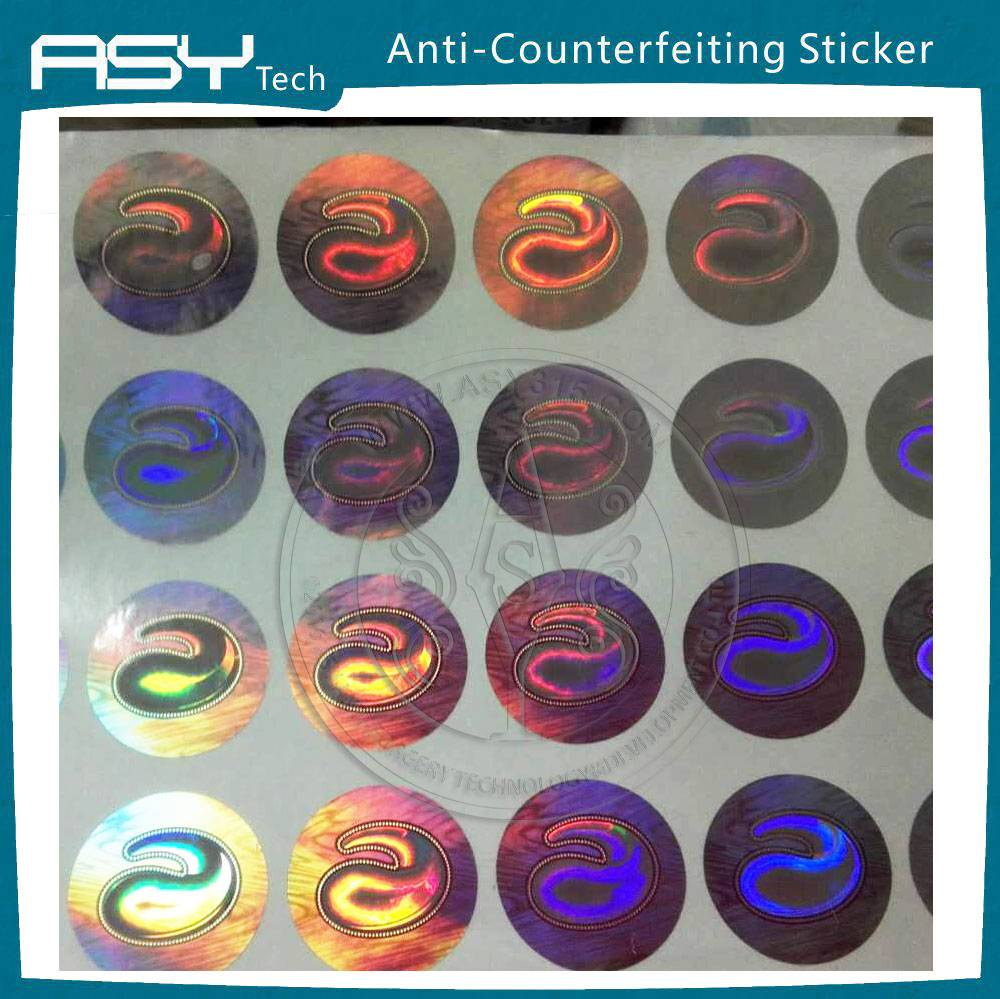anti-fake hologram laser sticker with 3D dynamic effect