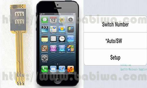 Genuine Dual Sim Card Adapter for APPLE Iphone 5. 3G UMTS WCDMA 2G GSM Supported