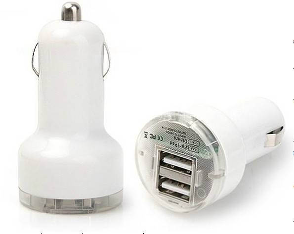 multifunction double USB car charger for iphone/ipad/samsng