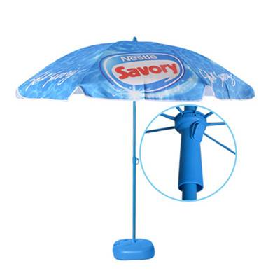 China nestle supplier logo printed canopy outdoor nylon bali umbrella for sun or rain with BSCI audi