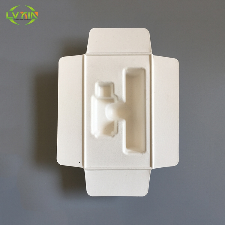 Brand new electronics product white color medical paper tray molded pulp packaging