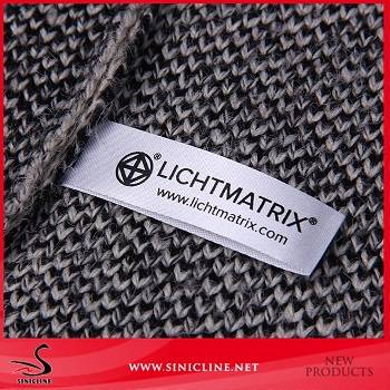Sinicline 2016 satin care labels silk screen custom printed labels for clothing