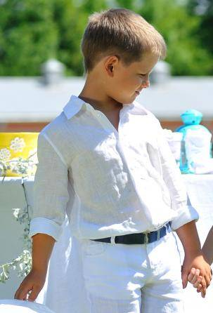 Boy's linen shirts. Made in Italy