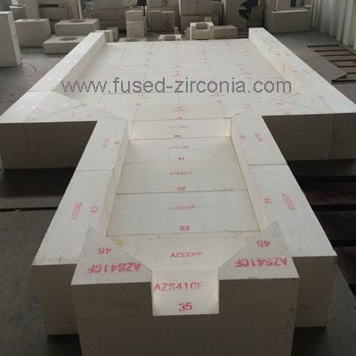 AZS41 Fused cast refractories
