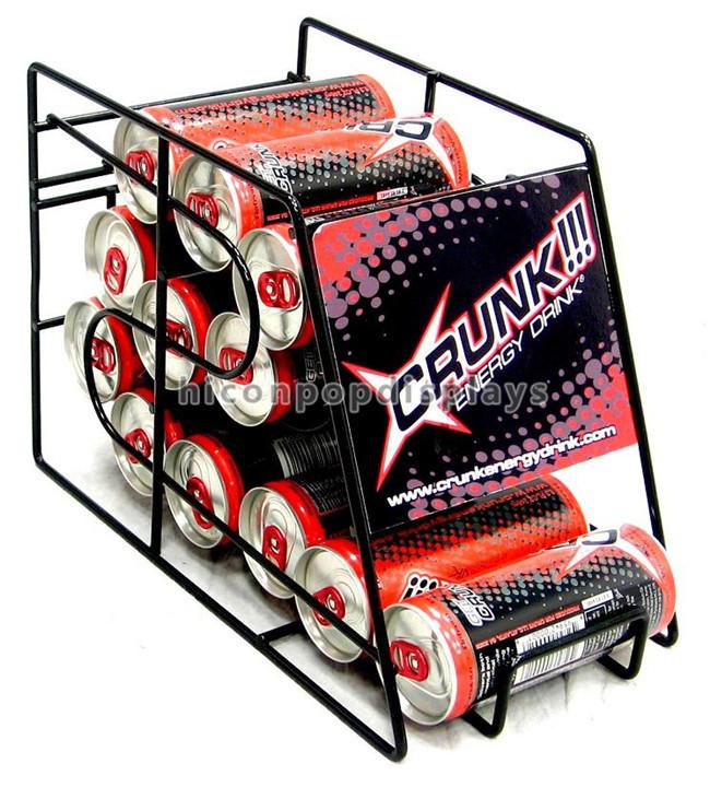 Bottle Beer Commercial 4-Layer Custom Logo Metal Can Beer Display Rack