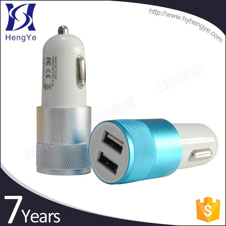2015 new for tablet PC/cell phone double usb outlet car charger with data cable