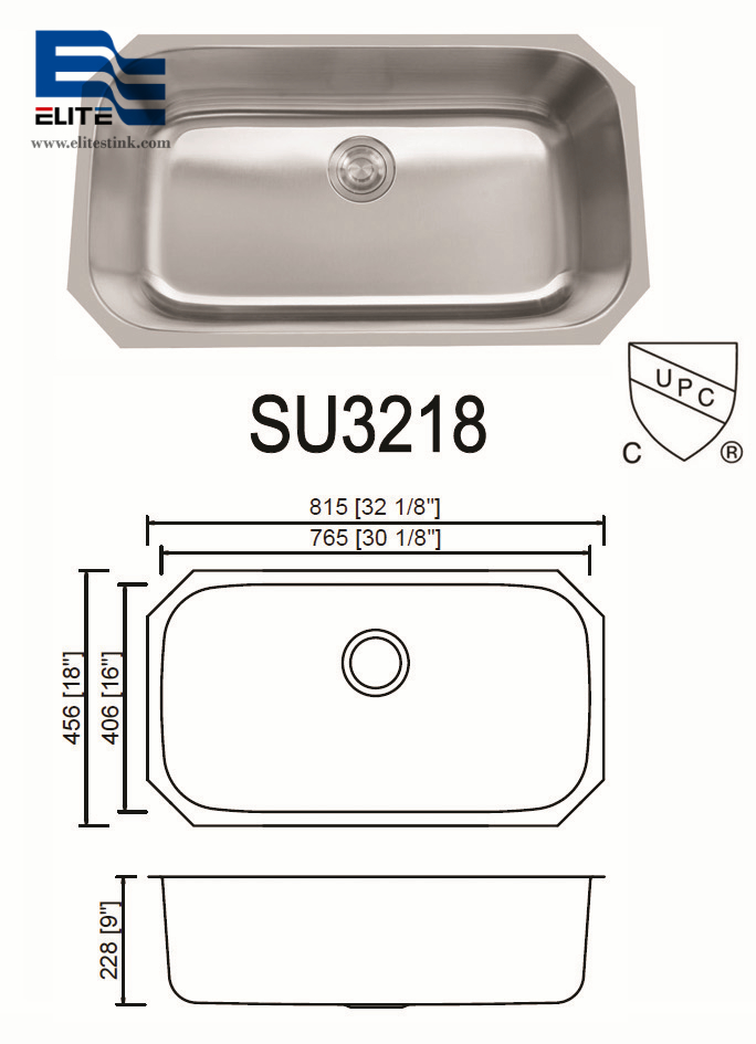 Large Kitchen Sink Stainless Steel Single Bowl