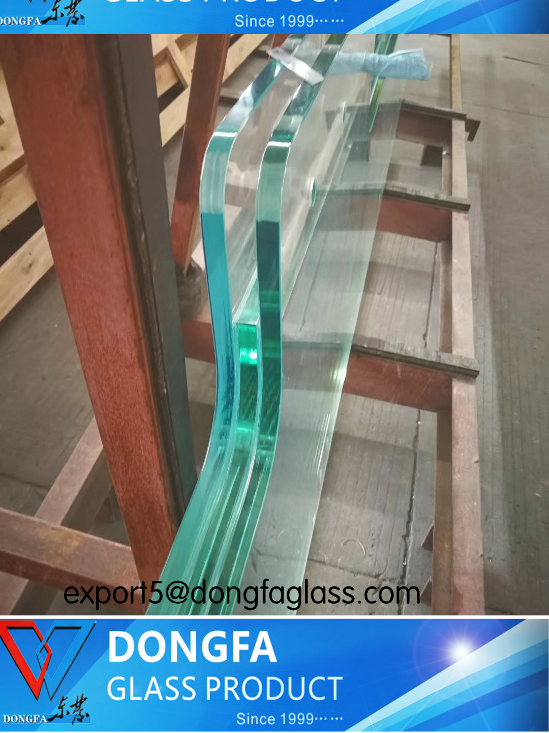 premium toughened laminated building safety glass for project