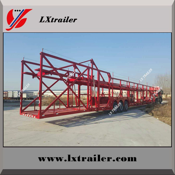 2 / 3 Axles Hydraulic Car / Vehicle Carrier/Car Transport Semi Truck Trailer