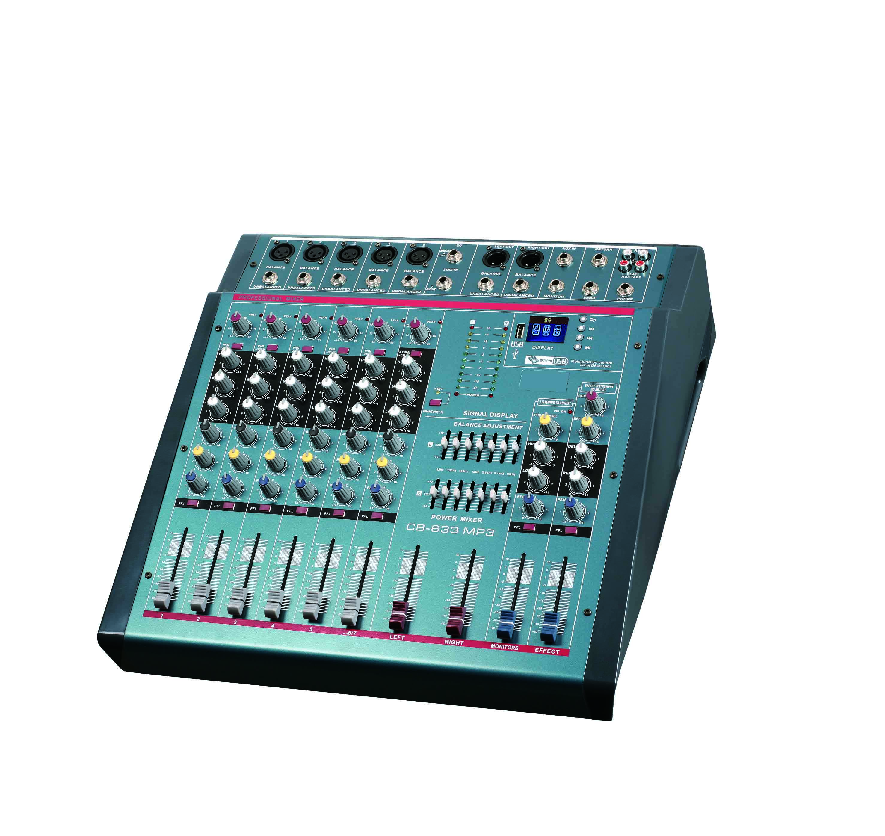 Wholesale 6 Channel Audio Power Mixer console Amplifier with Bluetooth