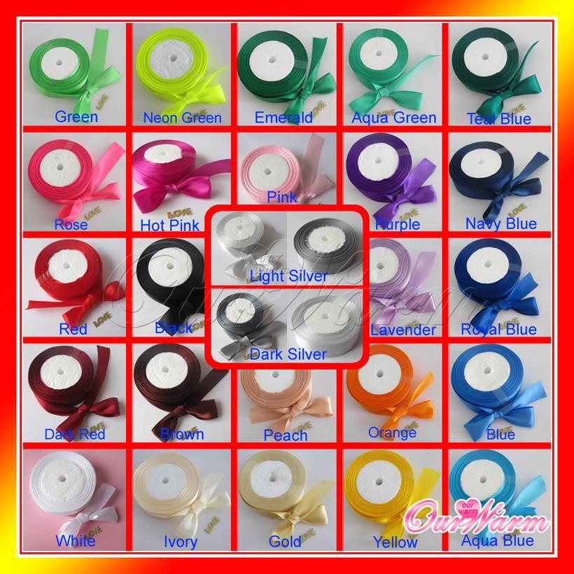 Satin Ribbon Craft Bow Wedding Party Decor Hot Colors U Pick