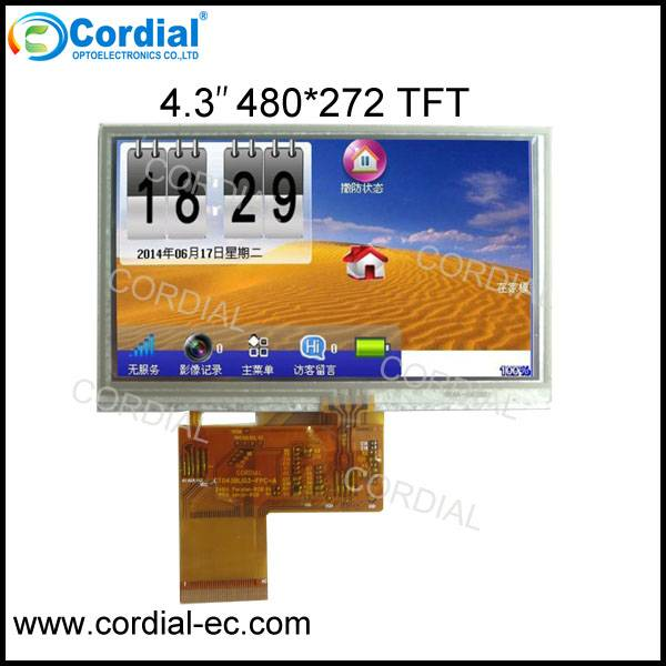 4.3 inch 480x272 TFT LCD MODULE CT043BLI11, with resistive or capacitive touchscreen