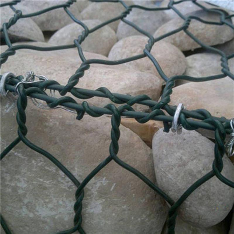 PVC coated hexagonal gabion mesh