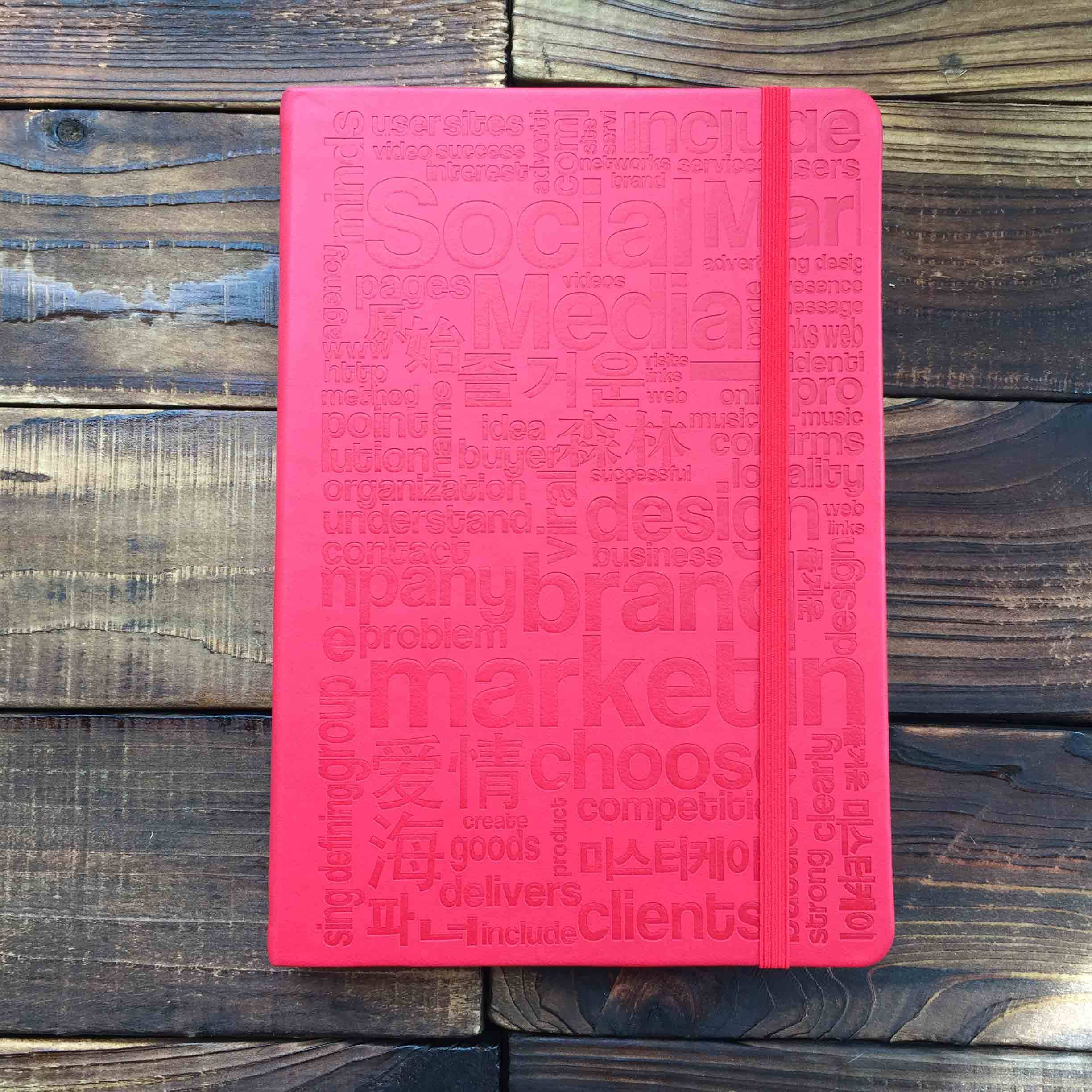 A5 Hardcover Notebooks paper with elastic strap and inner pocket