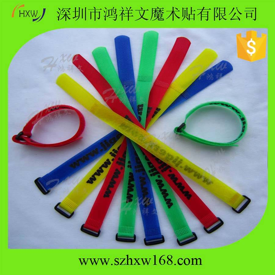 Mix-color wide use strong sticky cable ties