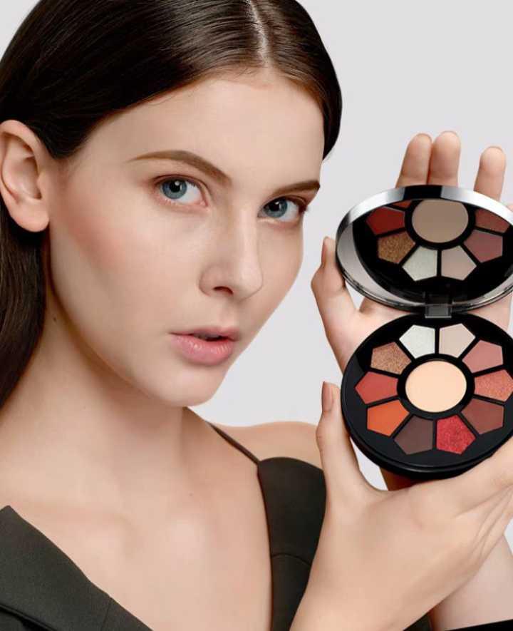 Decai zi-color eye shadow plate 11 colors earth merman pumpkin dumb pearl light lazy beginner girl p