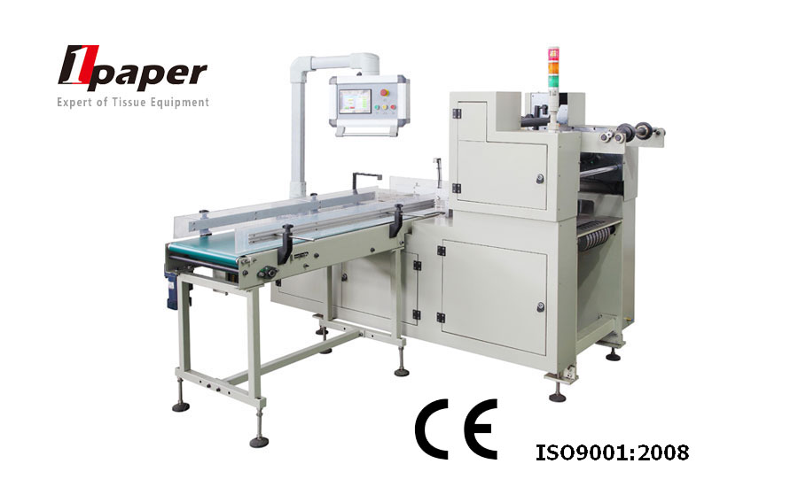 box-type soft drawn roll paper automatic handle fixing machine