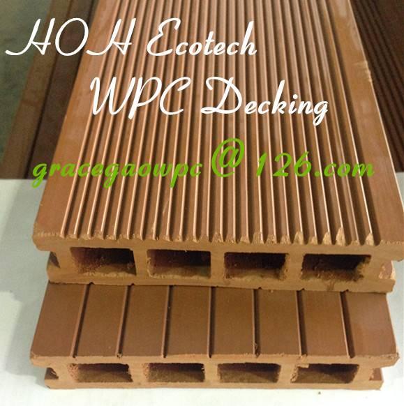 Landscape pontoon bridge wood WPC composite yacht decking floor