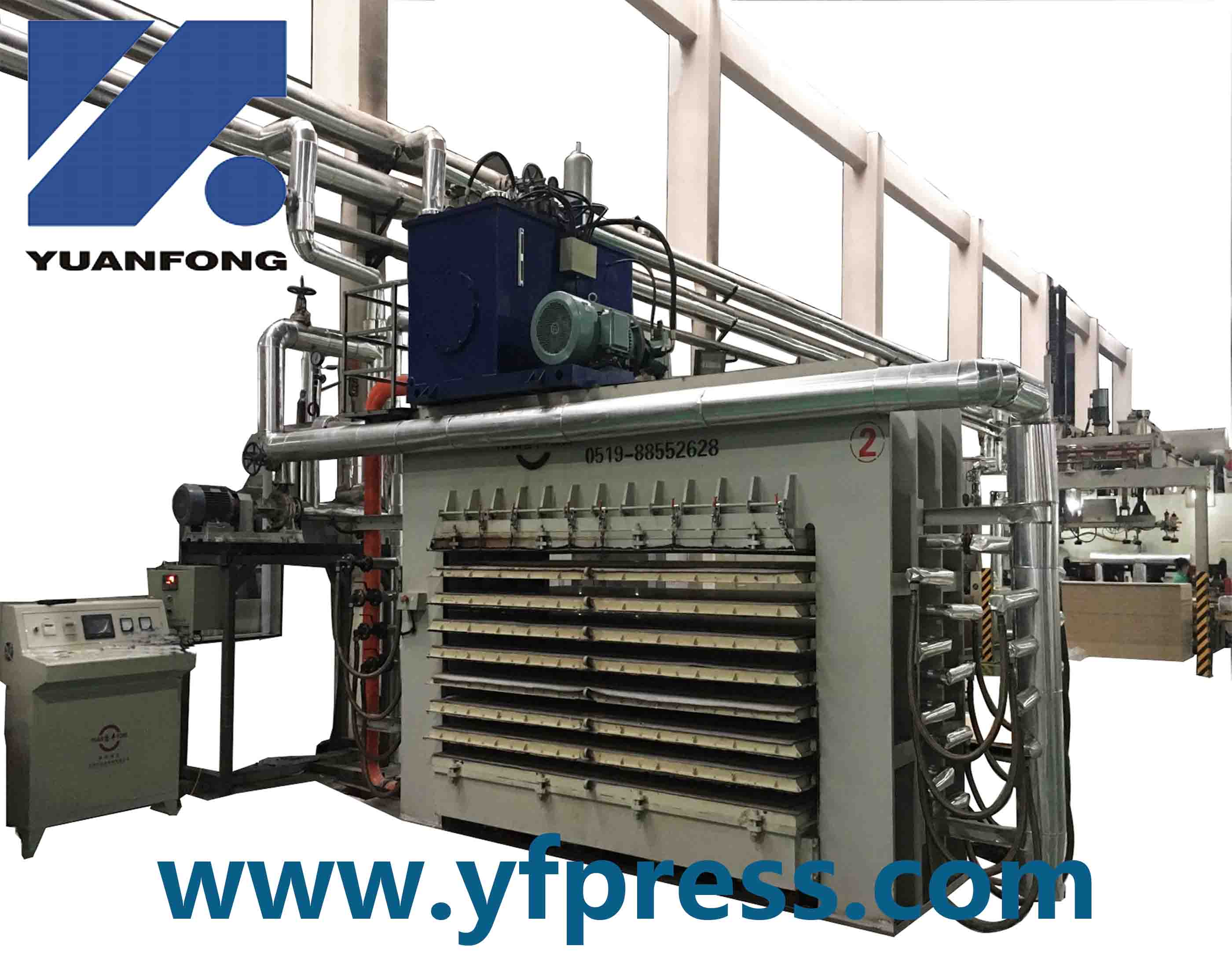 High Frequency Automatic Plywood Short Cycle Hydraulic Hot Press Machine