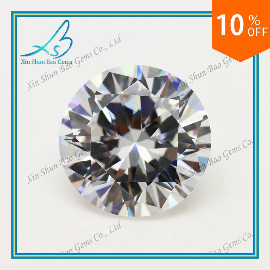 China Wholesale 1mm Round White Loose Synthetic Cubic Zirconia Stone