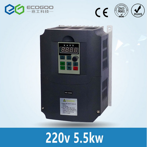 5.5kw 220v AC Frequency Inverter & Converter Output 3 Phase 650HZ ac motor water pump controller