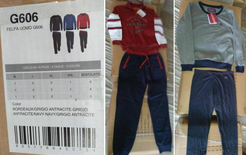 GIVOVA brand stock available, 17,000sets Men's knit jogging set TC2-389