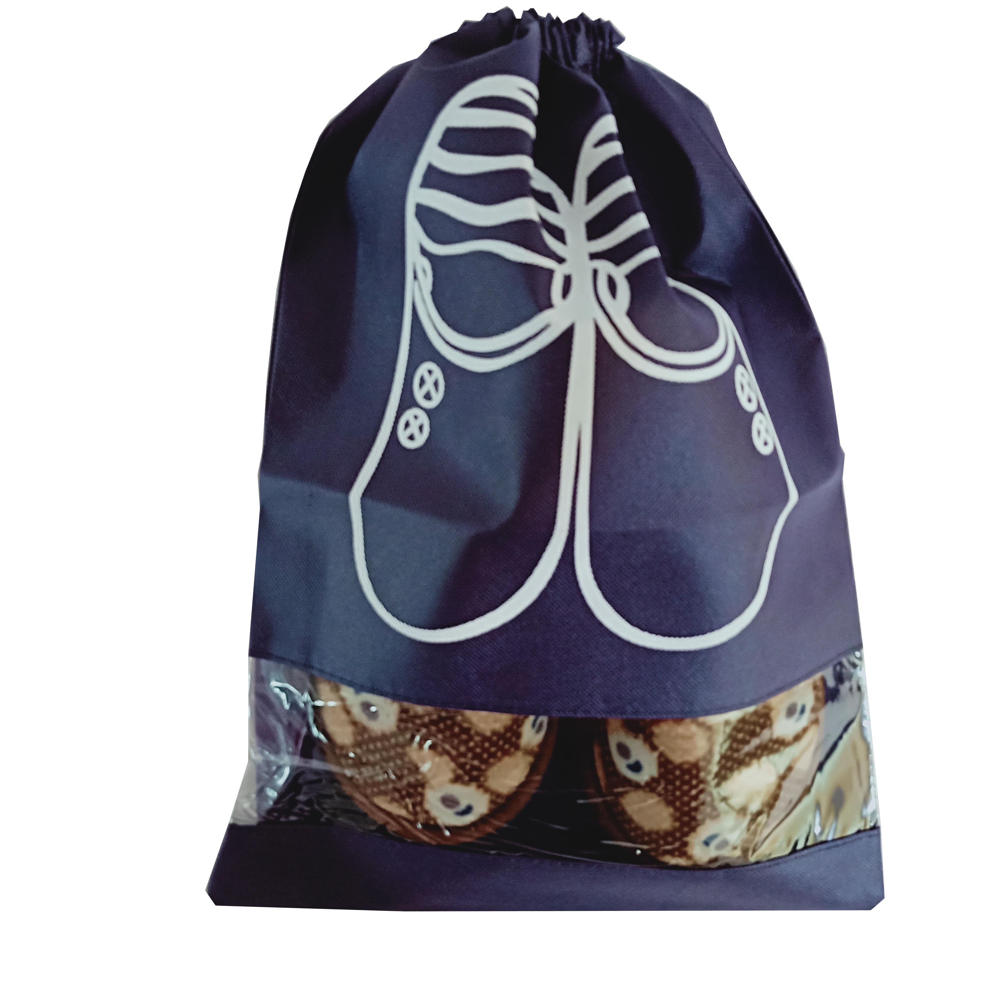 Stock Eco-Friendly Non Woven shopping logo drawstring non woven bag