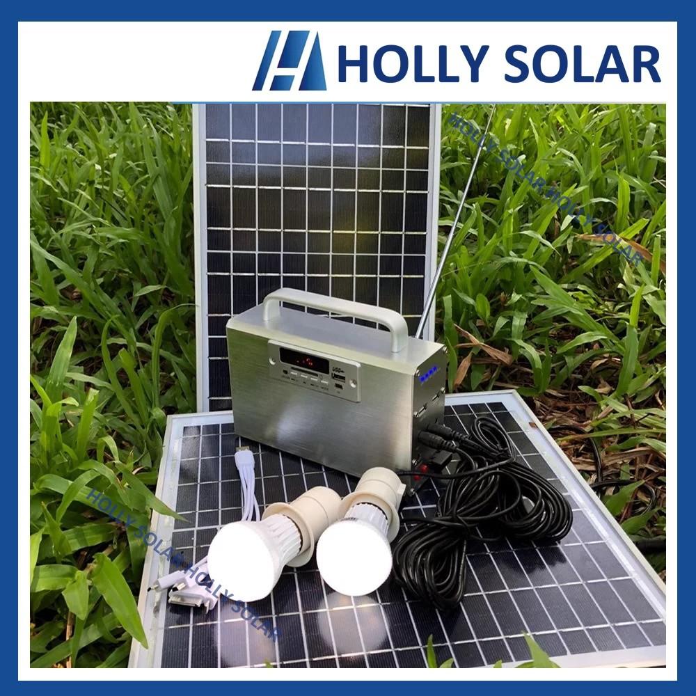 Solar Rechargeable Radio USB Music Player Speaker