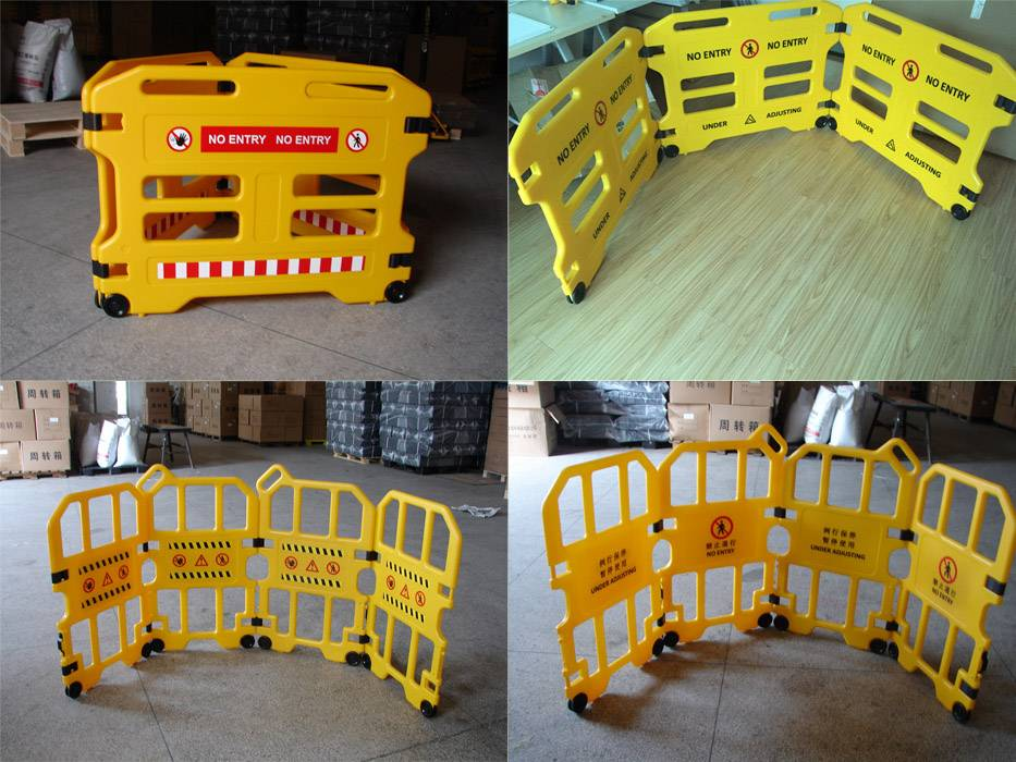 Safety standard plastic PE barrier moving collapsible