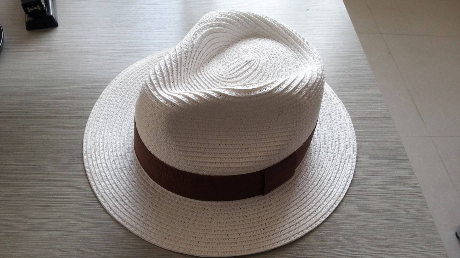 Big sale!! Discounting!! White color Panama paper hats for promotion