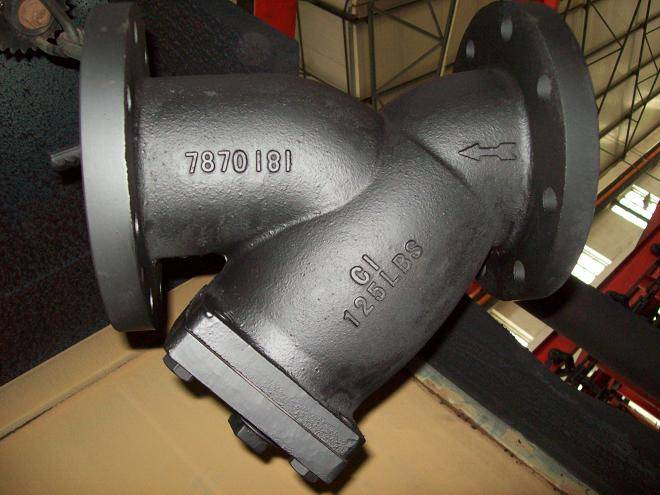 (BS )CAST IRON FLANGED Y STRAINER