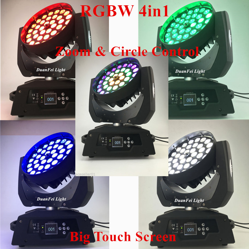 led moving head wash beam 36x10W rgbw 4in1 Cirle control ring with zoom