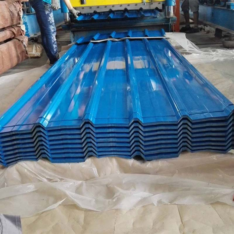 China Supplier 0.17mm Thickness PPGI/PPGL Corrugated/Trapezoidal Steel Roofing Plate