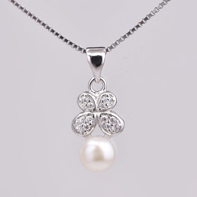 beautiful female 925 sterling silver jewellery pearl necklace online Alibaba wholesale