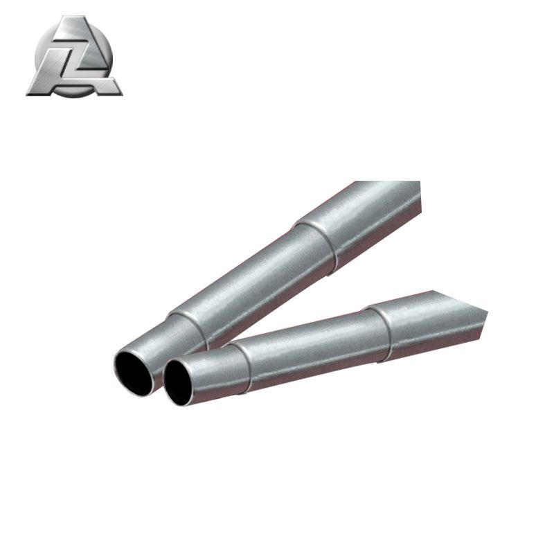 customized silver powder coated 6063 telescopic tube profile