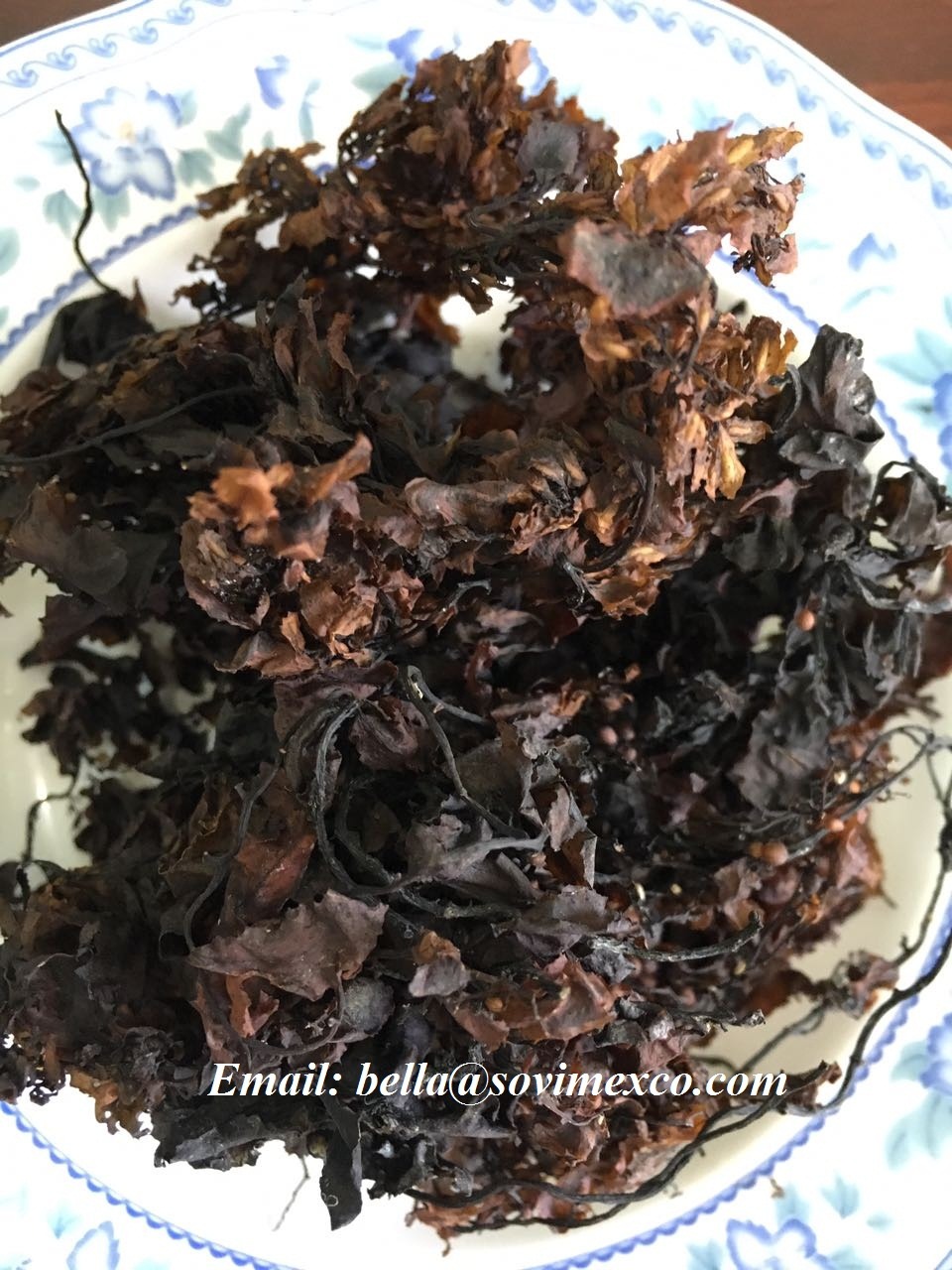 Dried seaweed sargassum for animal feed
