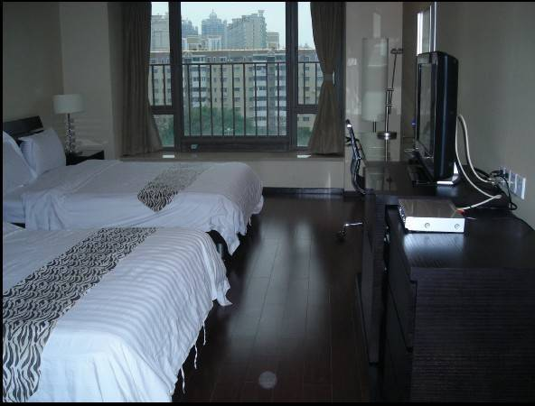 Pearl River New Bank apartment double luxury big bed