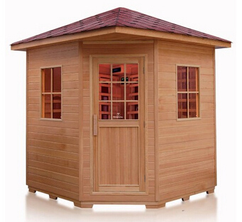 solid red cedar wooden sauna room