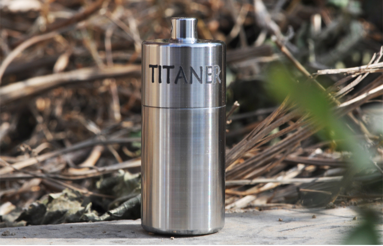 Titanium Portable Medicine Pill Box Waterproof AA Container Outdoor EDC Survival Storage Gift