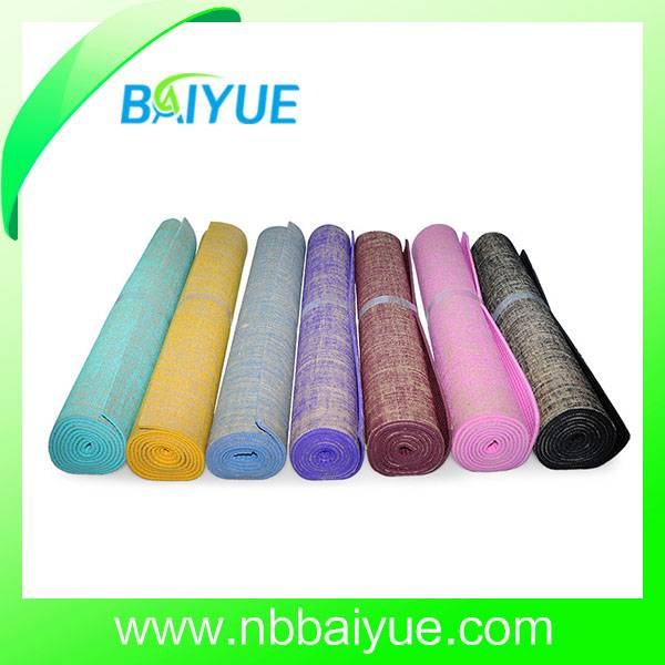 Eco Friendly Natural Rubber Jute Yoga Mat